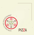 pizza template menu vector image vector image