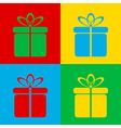 Pop art gift vector image vector image