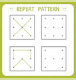 repeat pattern working page for children vector image vector image