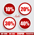 Sale Coupon voucher tag sticker Modern Style vector image vector image