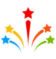 salute star fireworks flat icon vector image