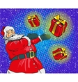 Santa claus with gifts in vector image