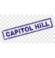 scratched capitol hill rectangle stamp vector image vector image