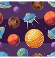 Seamless space kids pattern with planets vector image vector image