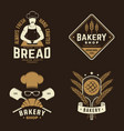 set bakery badge concept for badge vector image