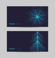 set horizontal banners abstract snowflake and vector image