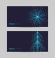 set of horizontal banners abstract snowflake