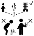 Set of Pyrotechnics Safety Precaution Measures vector image
