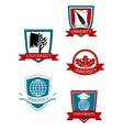 Set of university and college symbols vector image vector image