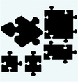 Set puzzles jigsaw icon vector image