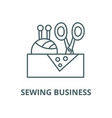 sewing business line icon linear concept vector image vector image