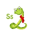 Snake Funny Alphabet Animal vector image vector image