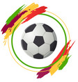 soccer ball isolated on white background black vector image vector image