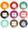 solid icons scans tooth shadow vector image vector image