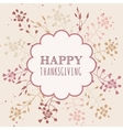 Thanksgiving greeting cards vector image vector image