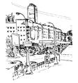 urban sketch vector image vector image