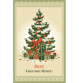 Vintage christmas card vector | Price: 3 Credits (USD $3)