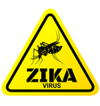 Warning sign of Zika virus with Mosquitoes vector image