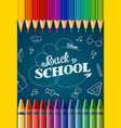 welcome back to school with colored pencilscrayon vector image vector image