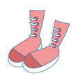 woman fashion boots vector image vector image