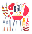 modern poster with a barbecue grill barbecue vector image