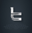 elegant silver font Letter T Template for company vector image