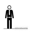 man machine icon vector image