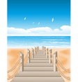 Beach View Background vector image