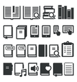 book icons vector image