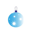 a christmas ball of icon holiday day vector image vector image