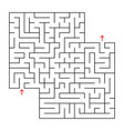 abstract square isolated maze black color an vector image vector image