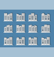 architecture city on blue background modern vector image vector image