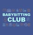 babysitting club word concepts banner