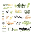 Badges and labels for homemade natural products vector image vector image