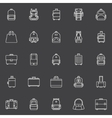 Bags icons set vector image