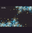 blue sparks and stars glitter special light effect vector image vector image