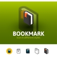 Bookmark icon in different style vector image vector image