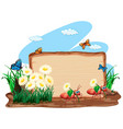 border template design with insects in garden vector image vector image