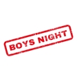 Boys Night Text Rubber Stamp vector image vector image