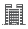 buildings glyph icon real estate and home vector image vector image