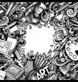 cartoon doodles art card monochrome