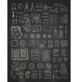 chalk scene creator set on blackboard background vector image
