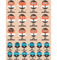 Character Emotions vector image vector image