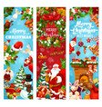 christmas and new year holiday greeting banner vector image vector image