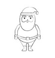 christmas happy santa claus character vector image