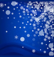 christmas snow on blue background vector image