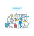 class lesson education and training learning vector image