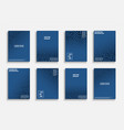 collection blue geometric covers vector image