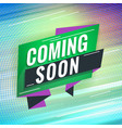 coming soon promotional concept template for vector image