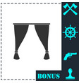 curtain icon flat vector image vector image
